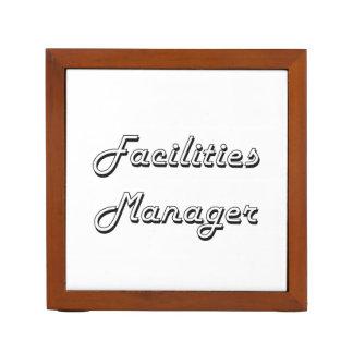 Facilities Manager Classic Job Design Pencil/Pen Holder