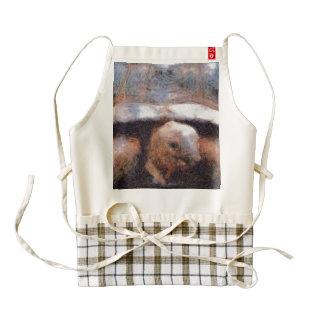 Facing a tortoise zazzle HEART apron