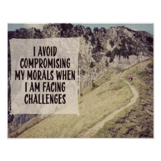 Facing Challenges by Inspirational Downloads Poster