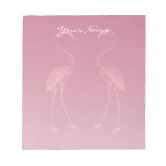 Facing Flamingos Notepad