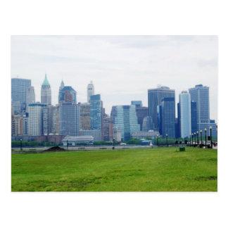 Facing Manhattan Postcard