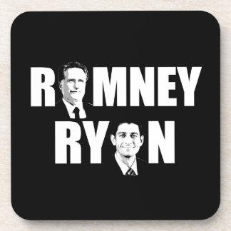 FACING ROMNEY RYAN WHITE png Beverage Coasters