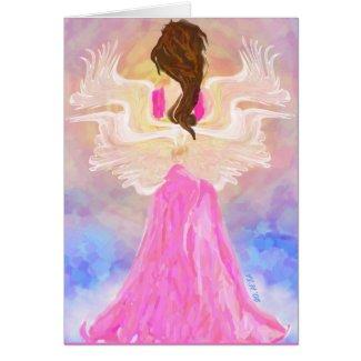 """""""Facing The Sun"""" Angel Art Card"""