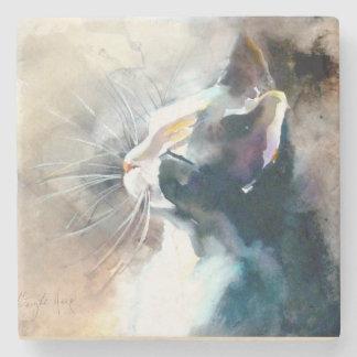 """Facing the Sun"" Cat Print Stone Coaster"