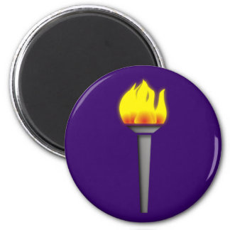 fackel torch imán redondo 5 cm