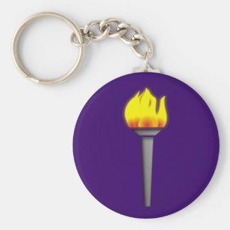 fackel torch llavero redondo tipo pin