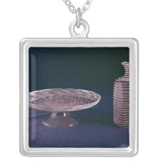 Facon de Venise latticinio tazza Silver Plated Necklace