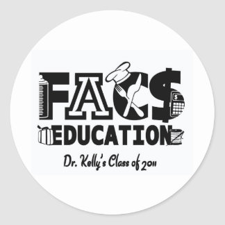 FACS Education Round Stickers