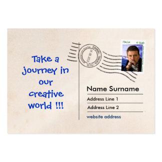 Facsímil de la postal tarjetas de visita grandes