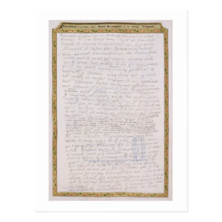 Facsímil de una letra de Elizabeth I a Francois Tarjeta Postal