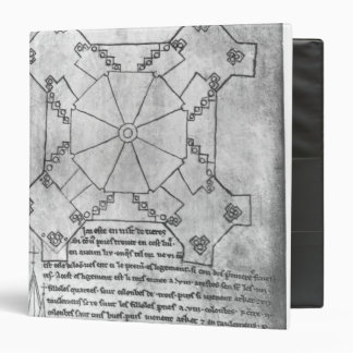 Facsimile copy of a plan of the tower binder