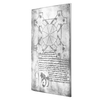 Facsimile copy of a plan of the tower stretched canvas print
