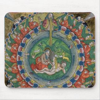 Facsimile copy of Genesis 2:22 God created Eve, fr Mouse Pad