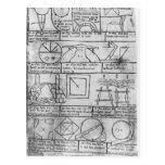 Facsimile copy of Geometrical figures Post Card