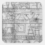 Facsimile copy of Geometrical figures Square Stickers