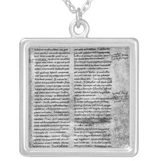 Facsimile copy square pendant necklace