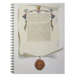 Facsimile edition of the Magna Carta, first publis Notebook
