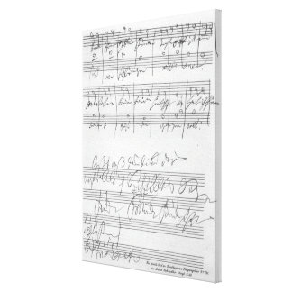 Facsimile of a page of music canvas print