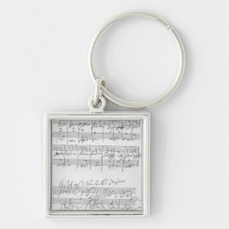 Facsimile of a page of music keychain
