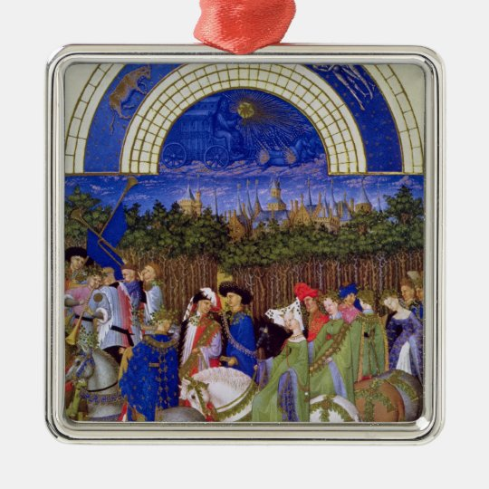 Facsimile of May: Courtly Figures on Horseback Metal Ornament
