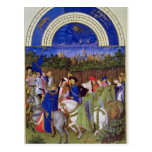 Facsimile of May: Courtly Figures on Horseback Postcards