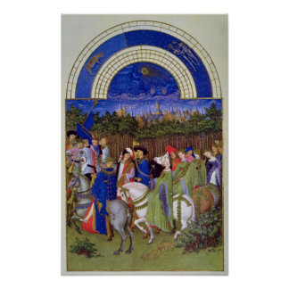 Facsimile of May: Courtly Figures on Horseback Poster