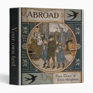 Facsimile old 1884 travel book 3 ring binder