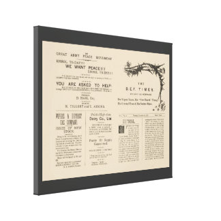 Facsimile  Pages from the Wipers Times 1917 Canvas Print