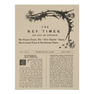 Facsimile Pages from the Wipers Times 1917 Print