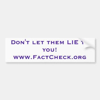 Fact Check bumper sticker Car Bumper Sticker