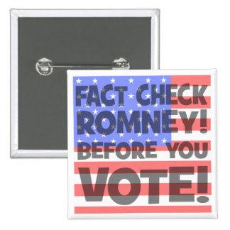 fact check Mitt Romney Pin