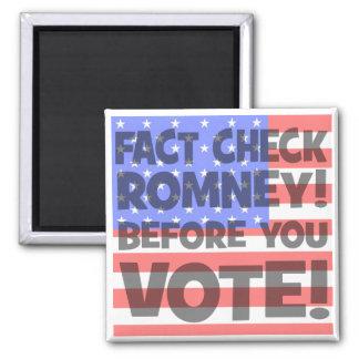 fact check Mitt Romney Refrigerator Magnets