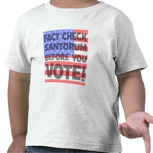 fact check Santorum T-shirt