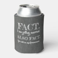 Fact - Funny Groomsman Proposal Can Cooler