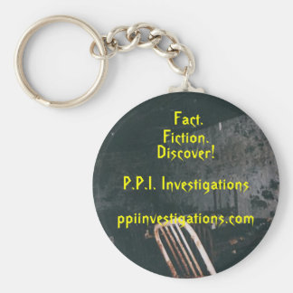 fact or fiction basic round button keychain