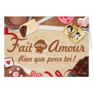 Fact with Love, Only for you! Pastry makings Card