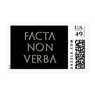 Facta Non Verba Postage Stamp