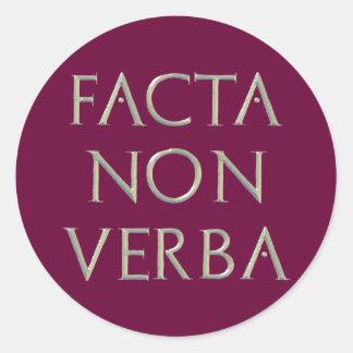 Facta Non Verba Stickers