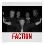 Faction B&W Poster