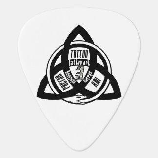 【FACTOR 3 INK Logo】 Ouroboros Trinity tattoo Guitar Pick
