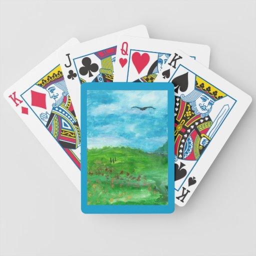 Factor de forma del VALLE VERDE RC: Naipes de la b Baraja Cartas De Poker