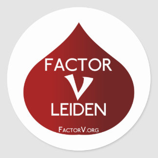 Factor V Leiden Awareness Classic Round Sticker