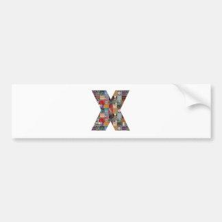 Factor X GRANDsize NVN486 barato del EQUIPO de la Pegatina Para Auto