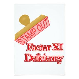 Factor XI Deficiency Card