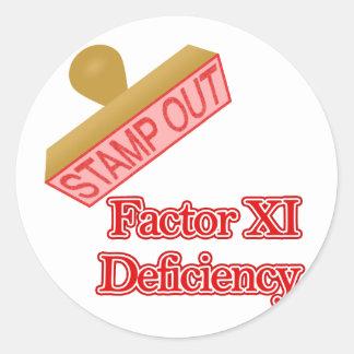 Factor XI Deficiency Classic Round Sticker