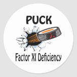 Factor Xi Deficiency Round Stickers