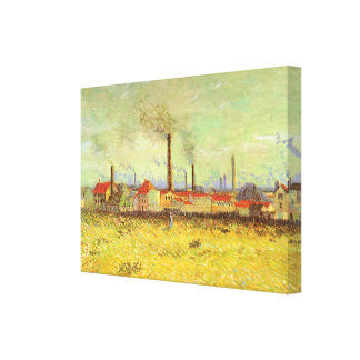 Factories at Asnieres by Vincent van Gogh Canvas Print