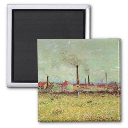 Factories at Asnieres by Vincent van Gogh Magnet