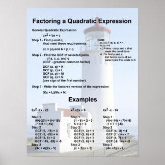 Factoring Quadratics Poster