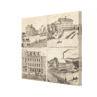 Factory and tannery in Vergennes Canvas Print
